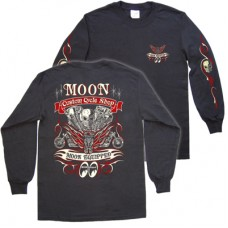 Moon custom cycle shop long sleeve t-shirt
